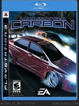 Need For Speed Carbon box cover