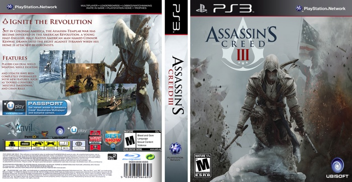 Assassin's Creed III box art cover