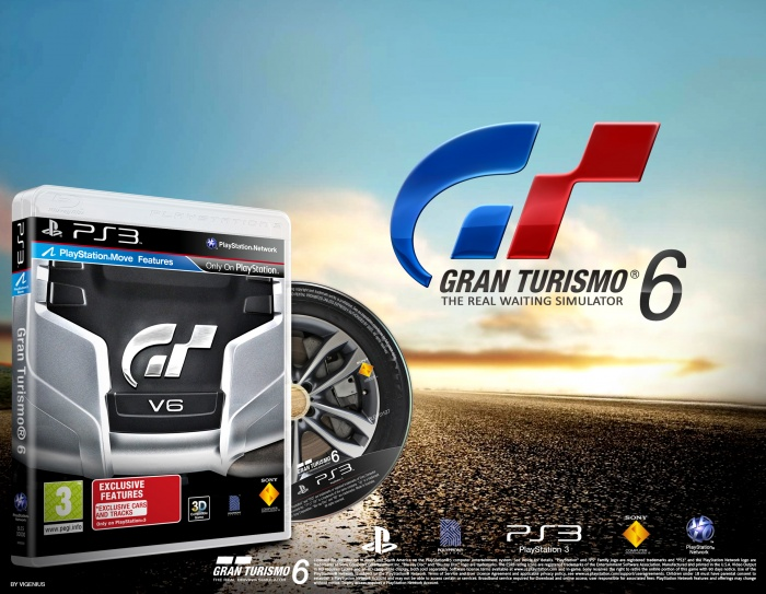 gran turismo 6 playstation 3 box art cover by vigenius. Black Bedroom Furniture Sets. Home Design Ideas
