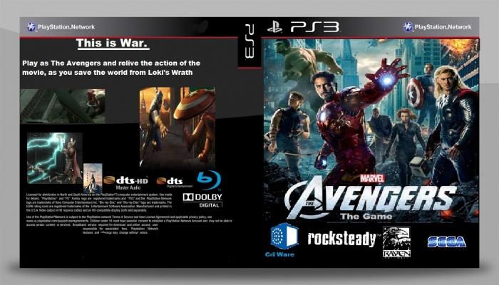 the avengers the official game playstation 3 box art cover by