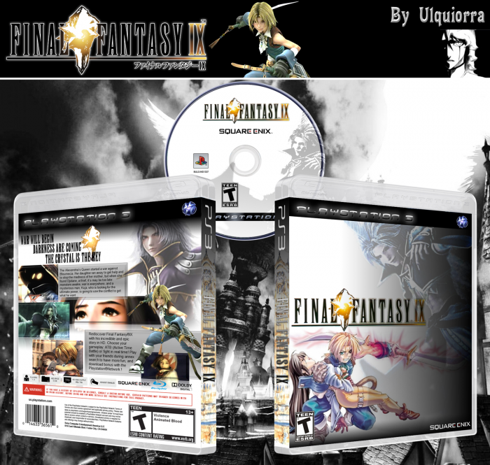 Final Fantasy Ix Playstation 3 Box Art Cover By Ulquiorra