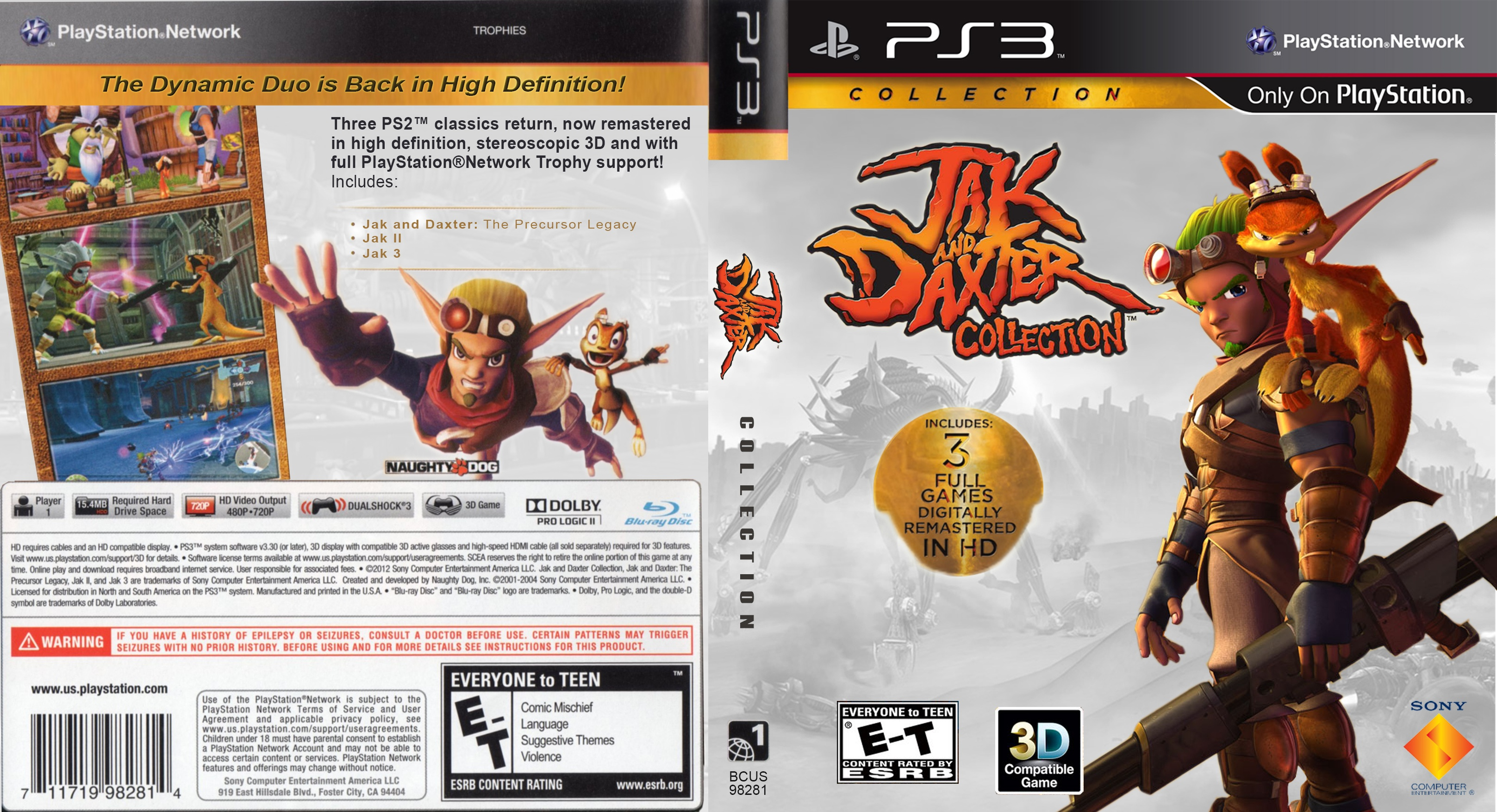 Jak and Daxter Collection box cover