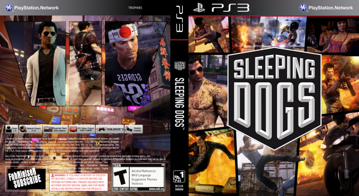 Sleeping Dogs PlayStation 3 Box Art Cover by FnhNielseN