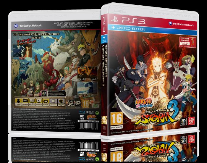 PlayStation 3 » Naruto Shippuden Ultimate Ninja Storm 3 Box Cover