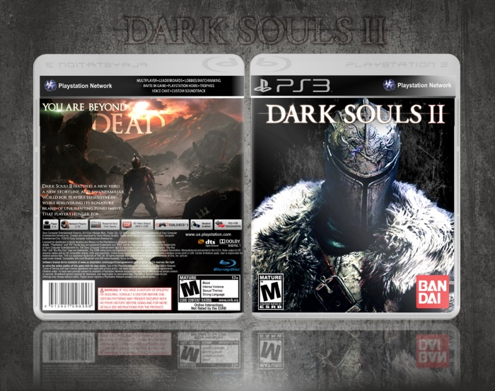 dark souls ii playstation 3 box art cover by miamivice