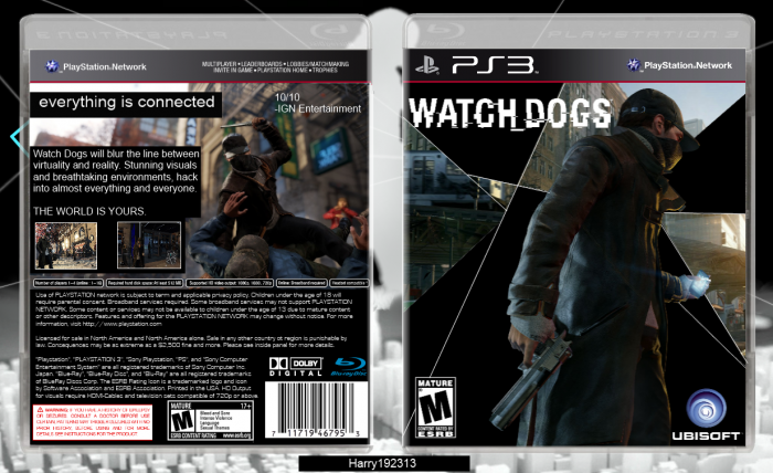 Watch Dogs PlayStation 3 Box Art Cover by Harry192313  Watch