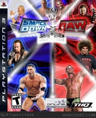 WWE SmackDown! vs RAW 2008 box cover