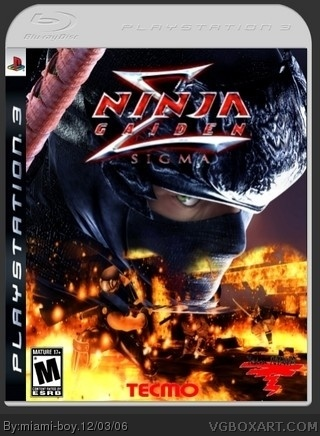 Ninja Gaiden Sigma Playstation 3 Box Art Cover By Miami Boy