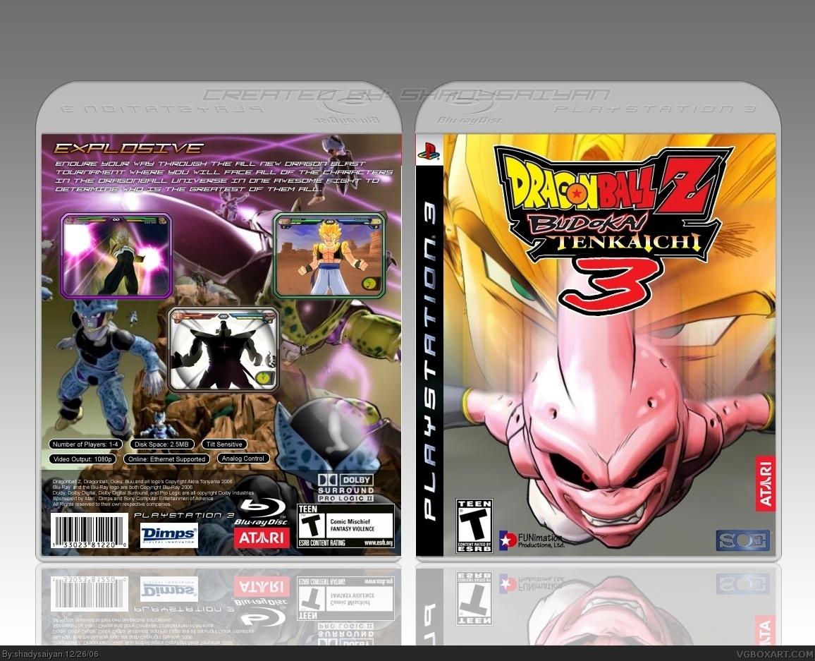 Dragon Ball Z: Budokai Tenkaichi 3 PlayStation 3 Box Art Cover by