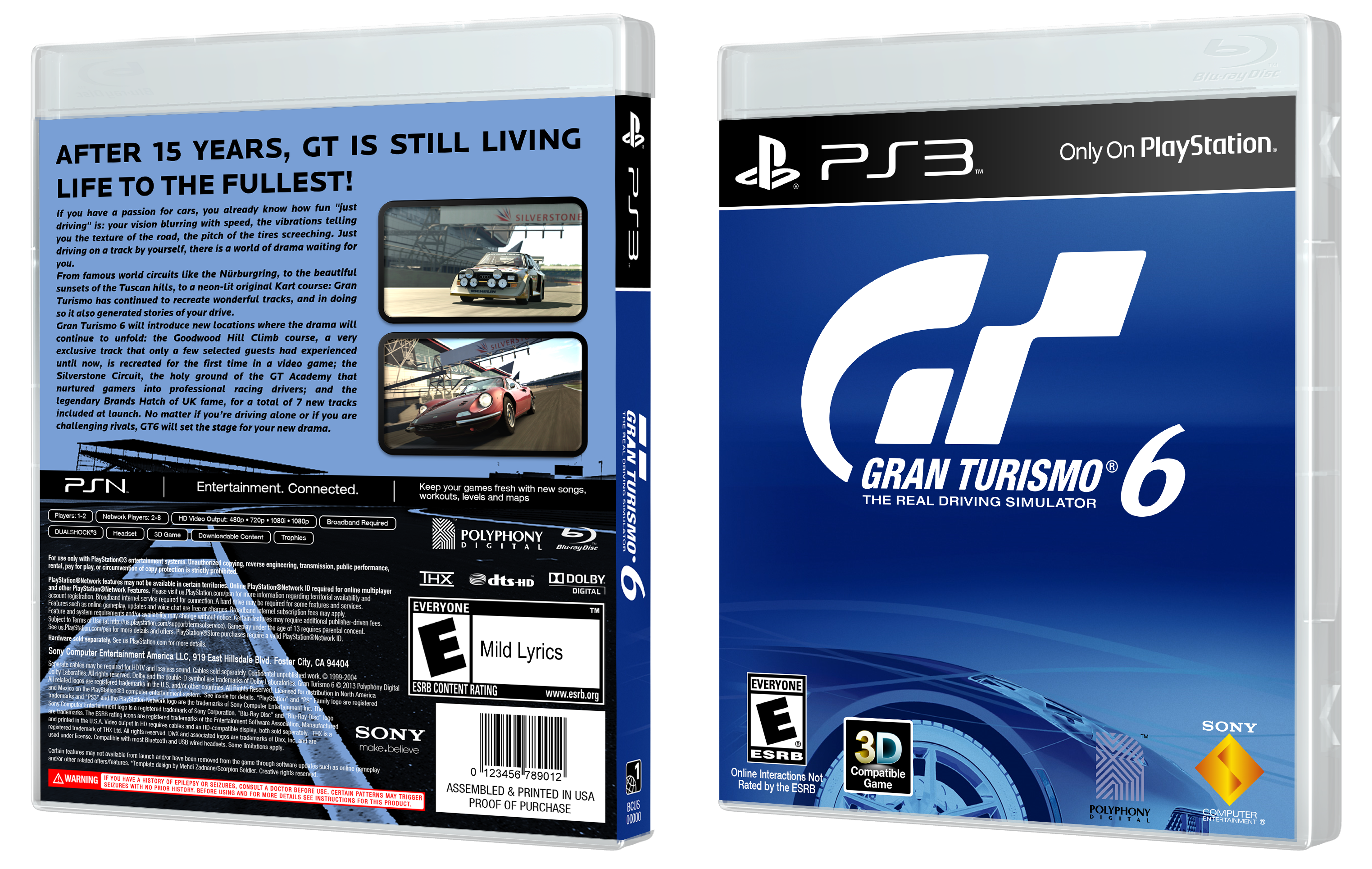 gran turismo 6 playstation 3 box art cover by edwardpines. Black Bedroom Furniture Sets. Home Design Ideas