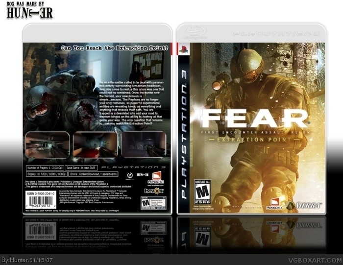 F.E.A.R  extraction point box art cover