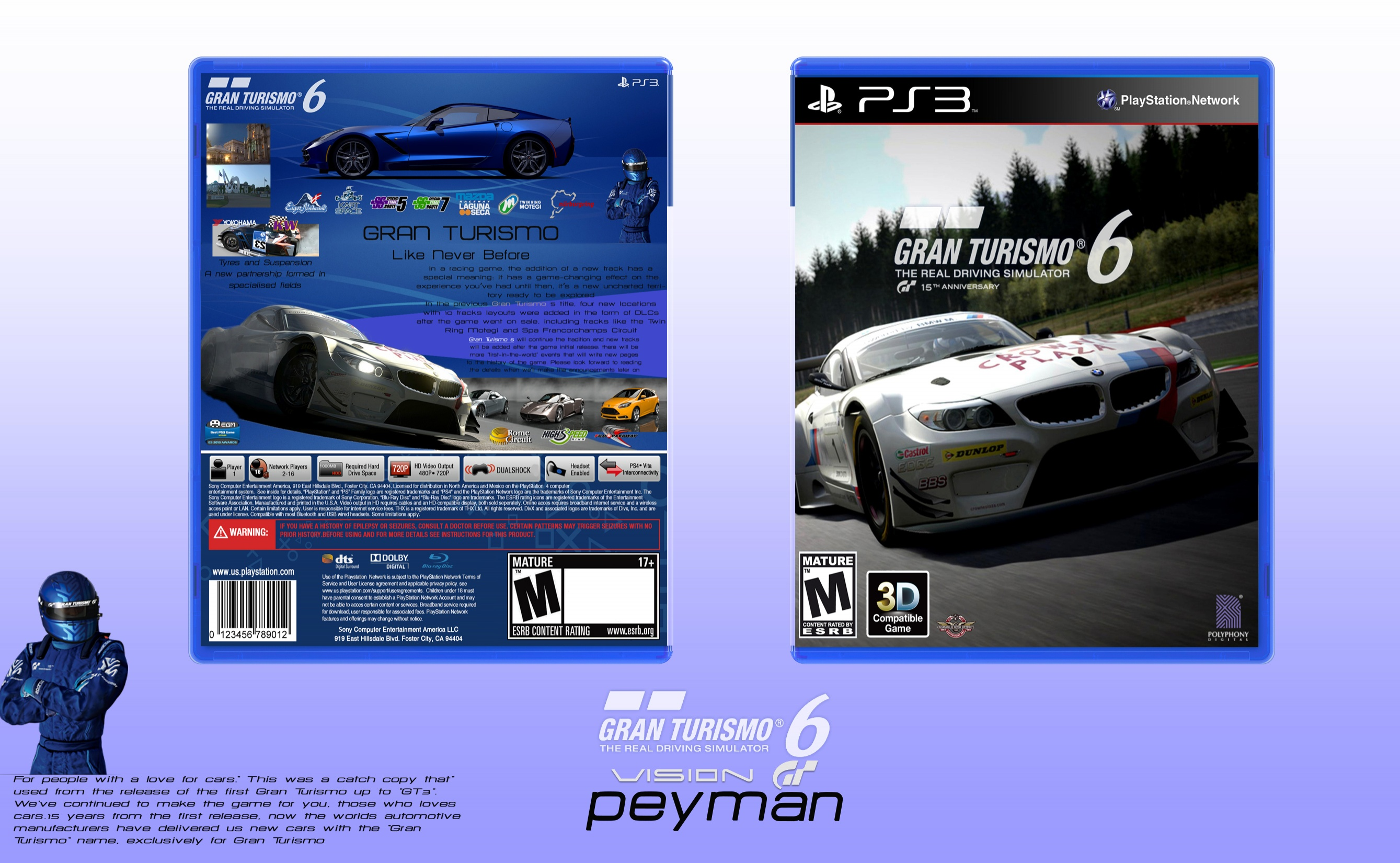 gran turismo 6 playstation 3 box art cover by peyman. Black Bedroom Furniture Sets. Home Design Ideas