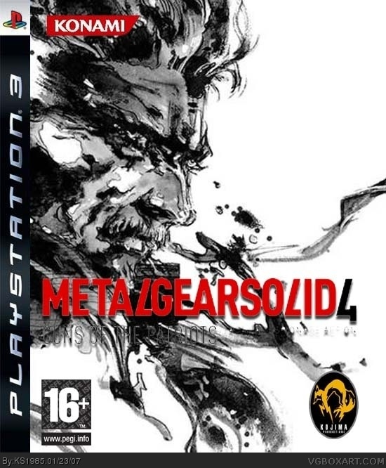 Metal Gear Solid 4: Guns Of The Patriots PlayStation 3 Box