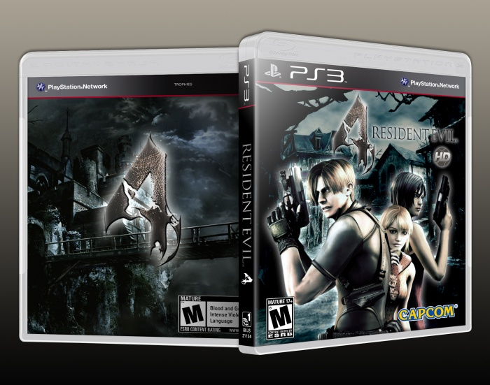 Resident Evil 4 HD PlayStation 3 Box Art Cover by Solid Romi