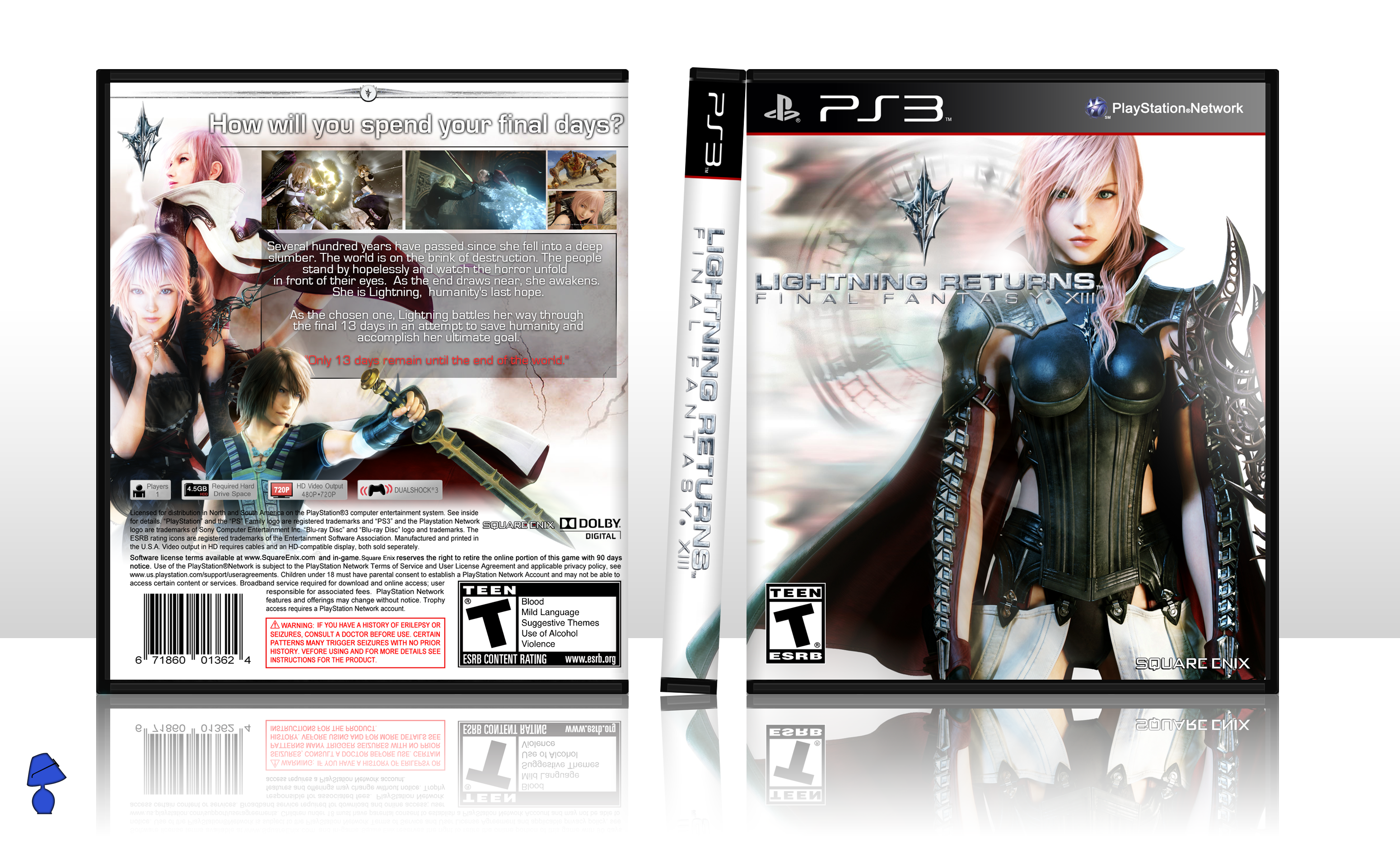 Lightning Returns: FINAL FANTASY XIII box cover