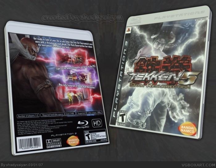 Tekken 5 Dark Resurrection Playstation 3 Box Art Cover By Shadysaiyan