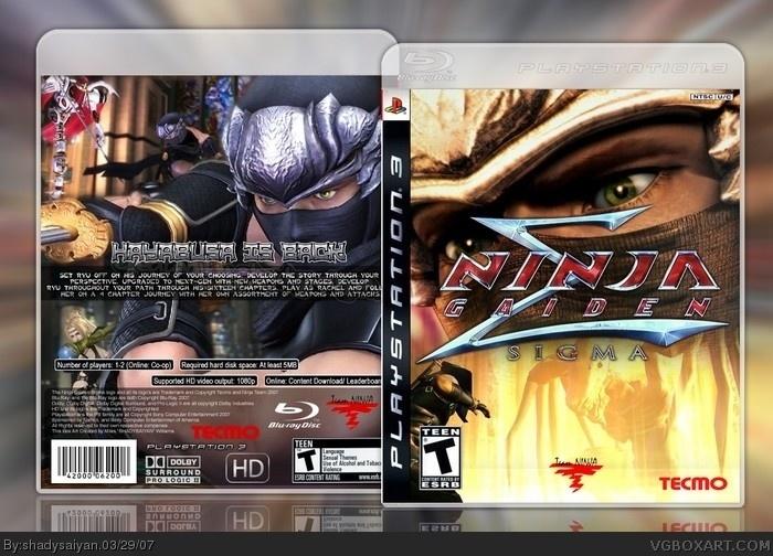 Ninja Gaiden Sigma Playstation 3 Box Art Cover By Shadysaiyan