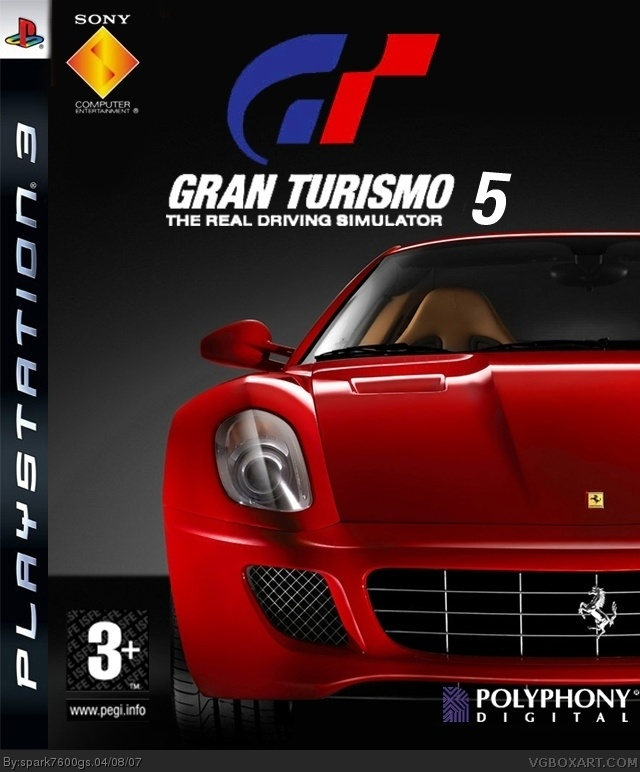 gran turismo 5 playstation 3 box art cover by spark7600gs. Black Bedroom Furniture Sets. Home Design Ideas