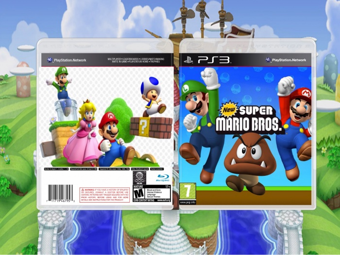 Mario Games For Ps3 : Mario bross ps playstation box art cover by lol