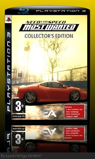Need for Speed Most Wanted Collector's Edition box cover
