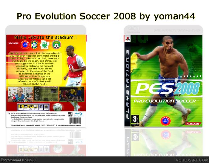 PlayStation 3 » Pro Evolution Soccer 2008 Box Cover