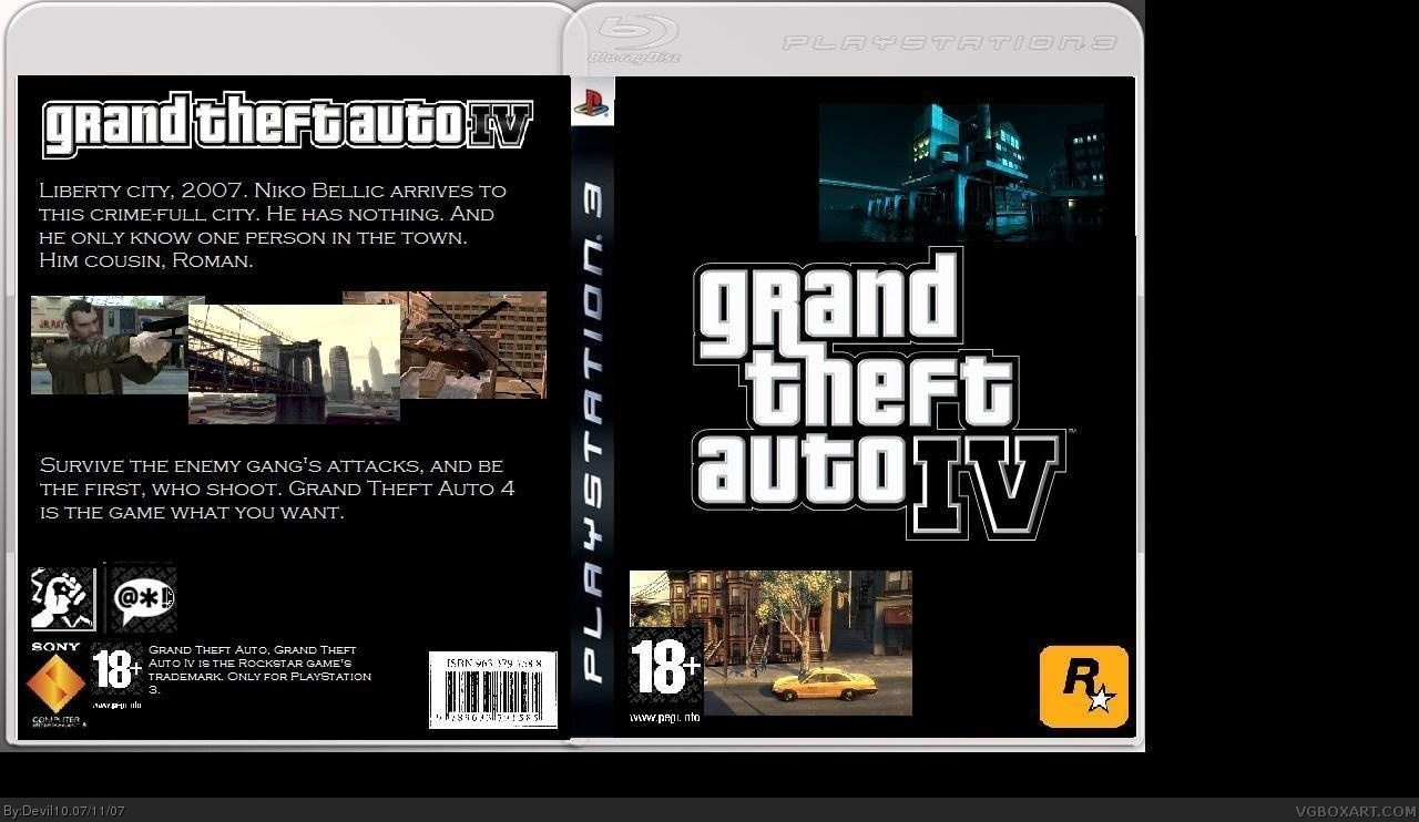 Viewing full size Grand Theft Auto IV box cover