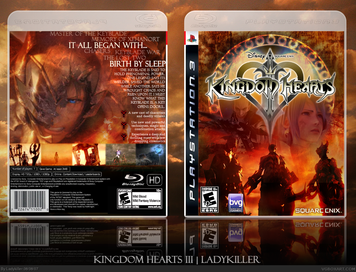 PlayStation 3 » Kingdom Hearts III Box Cover
