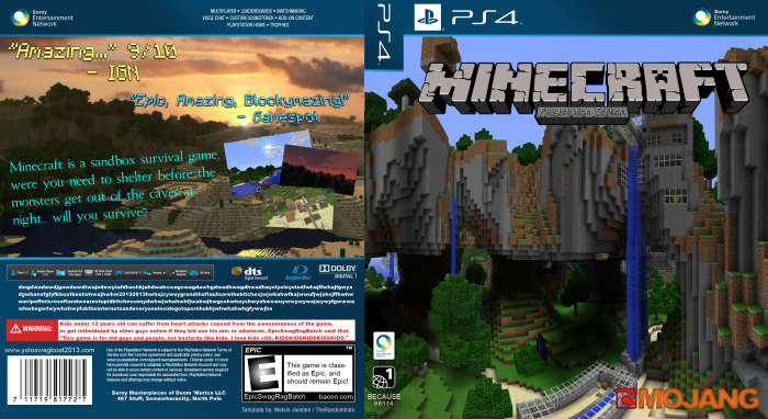 Minecraft: Playstation Edition box art cover