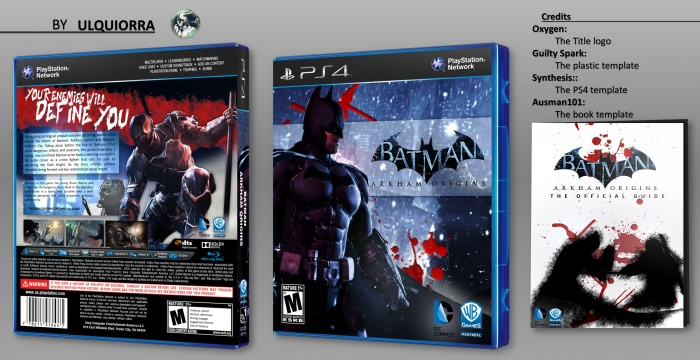 batman arkham origins playstation 4 box art cover by ulquiorra