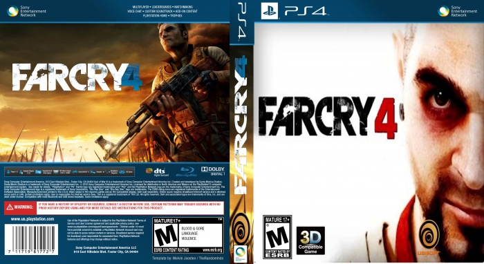 FARCRY 4 NEW EDIT PlayStation 4 Box Art Cover by aradfilm100