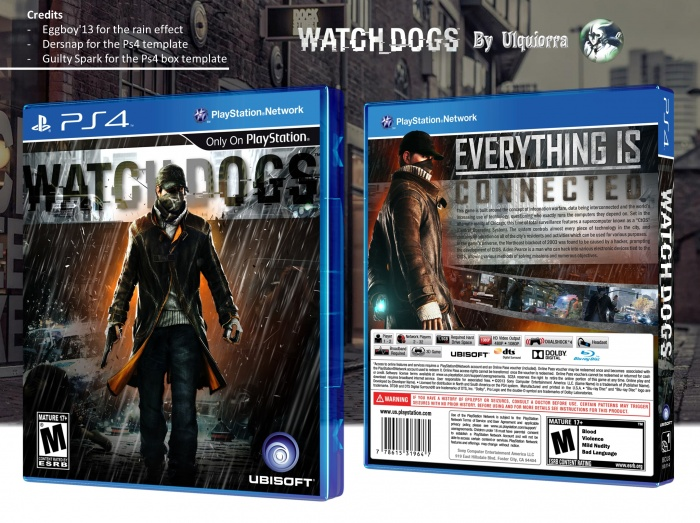 Watch Dogs PlayStation 4 Box Art Cover by Ulquiorra  Watch