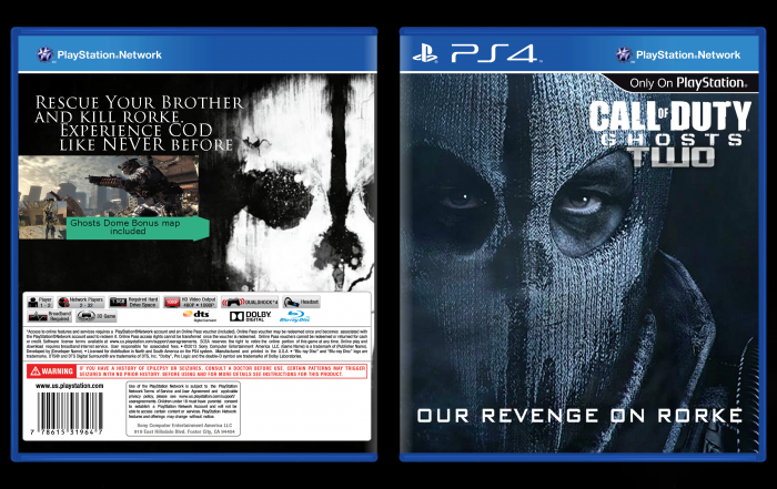 Call of duty ghosts ps4 box art