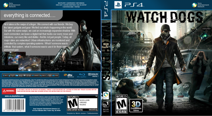 Watch Dogs PlayStation 4 Box Art Cover by 1703joe Watch Dogs Ps4 Box Art