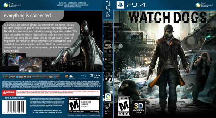 Watch Dogs PlayStation 4 Box Art Cover by 1703joe  Watch
