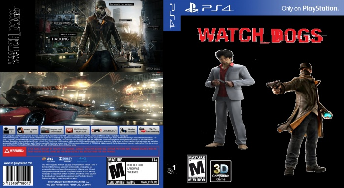 Watch Dogs Ugly Cover PlayStation 4 Box Art Cover by vicseie  Watch