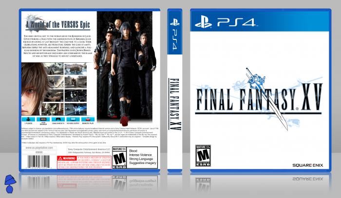 Final Fantasy Xv Playstation 4 Box Art Cover By Agentlampshade