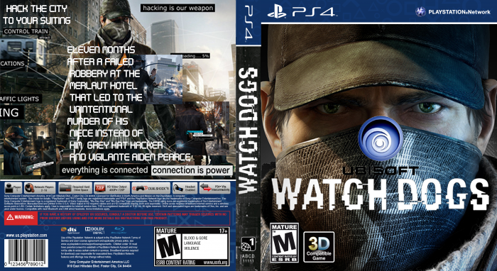 Watch Dogs Box Art PlayStation 4 Box Art Cover by danjones