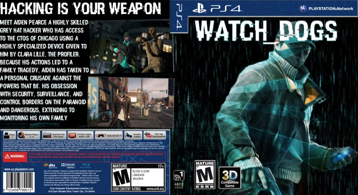 Watch_Dogs Cover PlayStation 4 Box Art Cover by TornadoMiner12 Watch Dogs Ps4 Box Art
