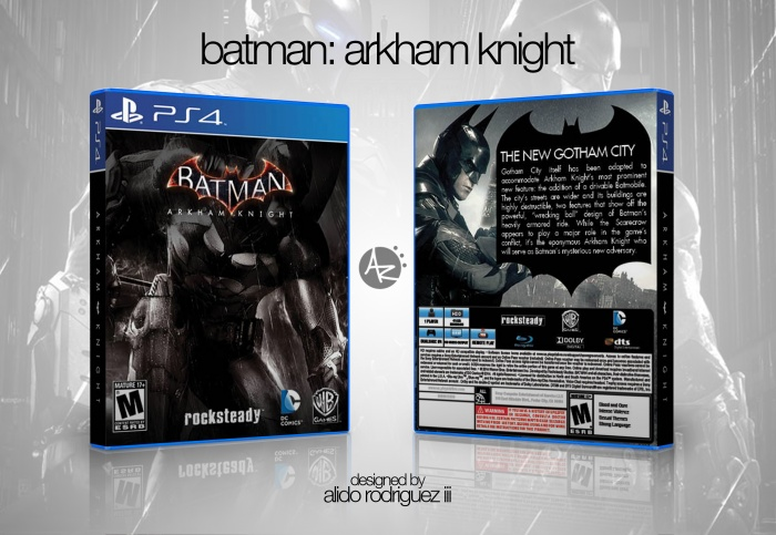 Batman: Arkham Knight PlayStation 4 Box Art Cover by ...