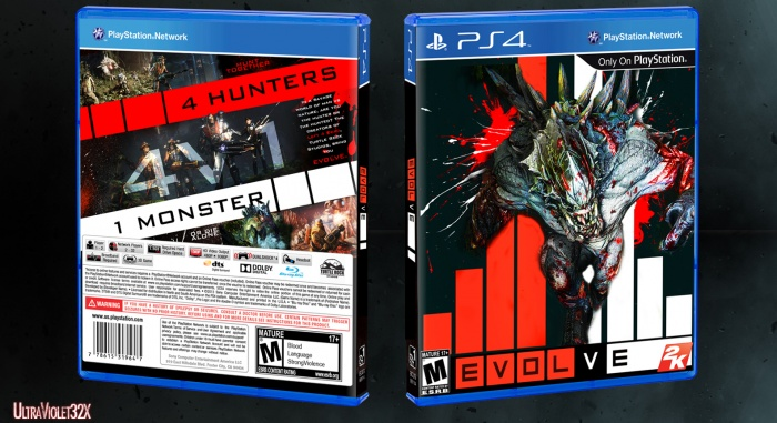 Evolve PlayStation 4 Box Art Cover by Ultraviolet32x