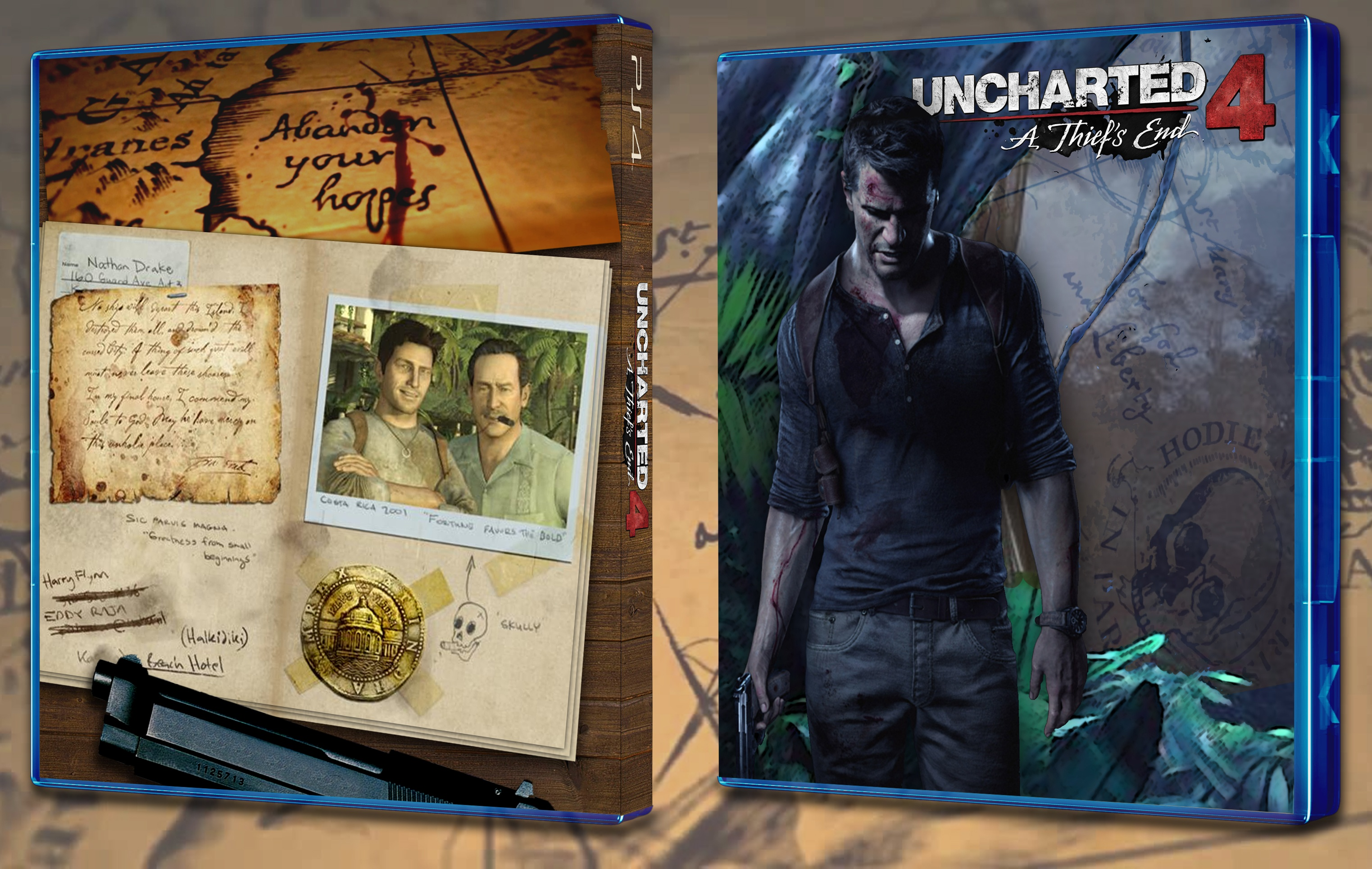 Uncharted 4: A Thief's End box cover