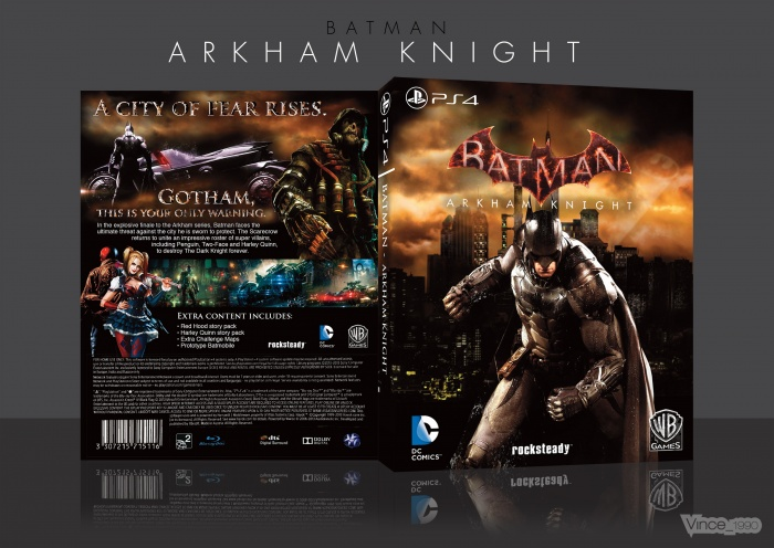 Batman: Arkham Knight PlayStation 4 Box Art Cover by Vince ...
