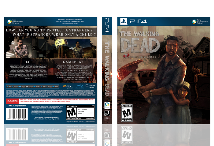 the walking dead season 1 playstation 4 box art cover by. Black Bedroom Furniture Sets. Home Design Ideas