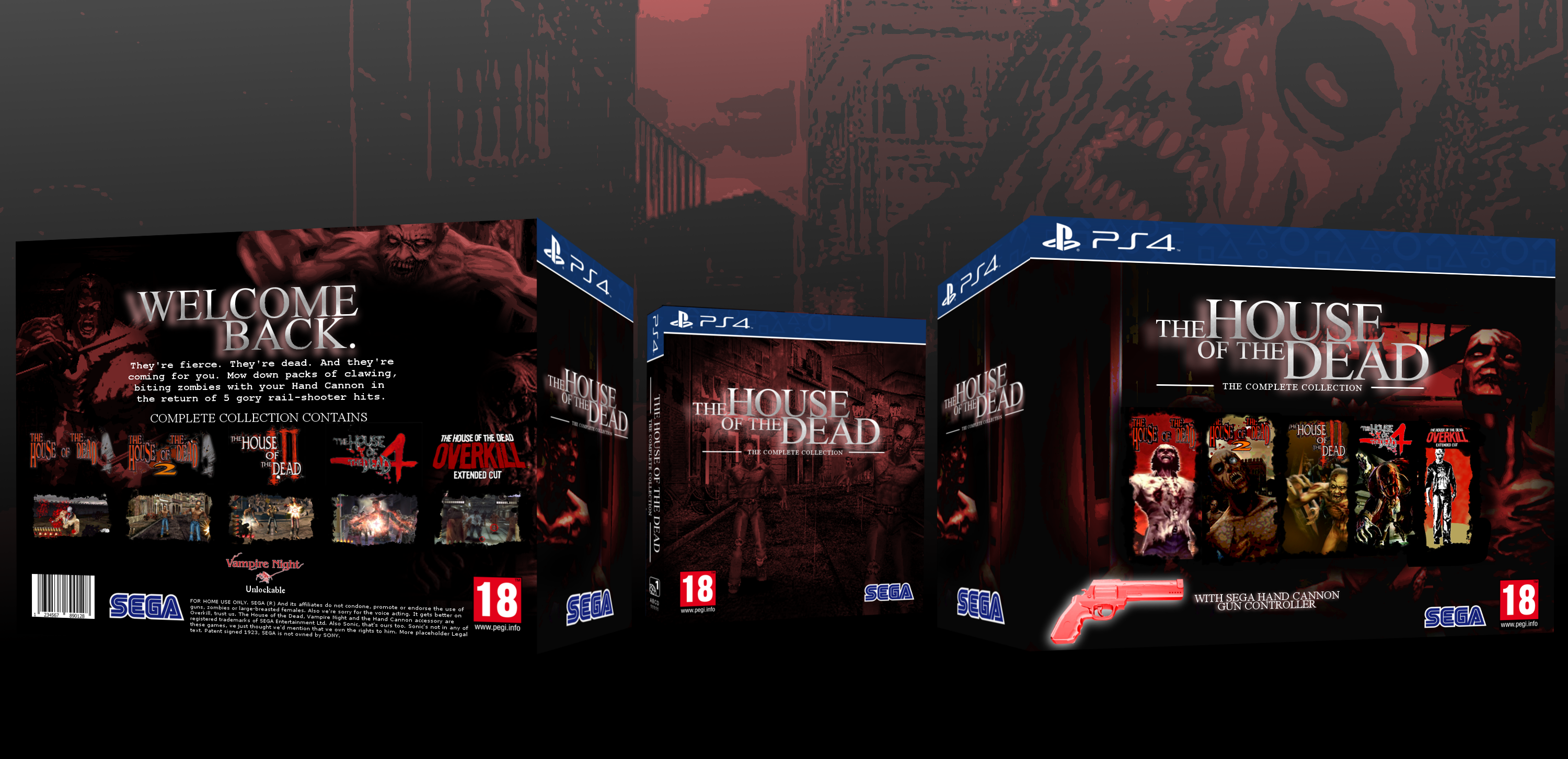 The House Of The Dead Complete Collection Playstation 4 Box Art