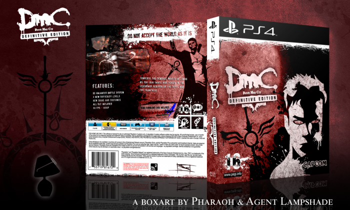 DMC: Devil May Cry - Definitive Edition PlayStation 4 Box Art Cover by