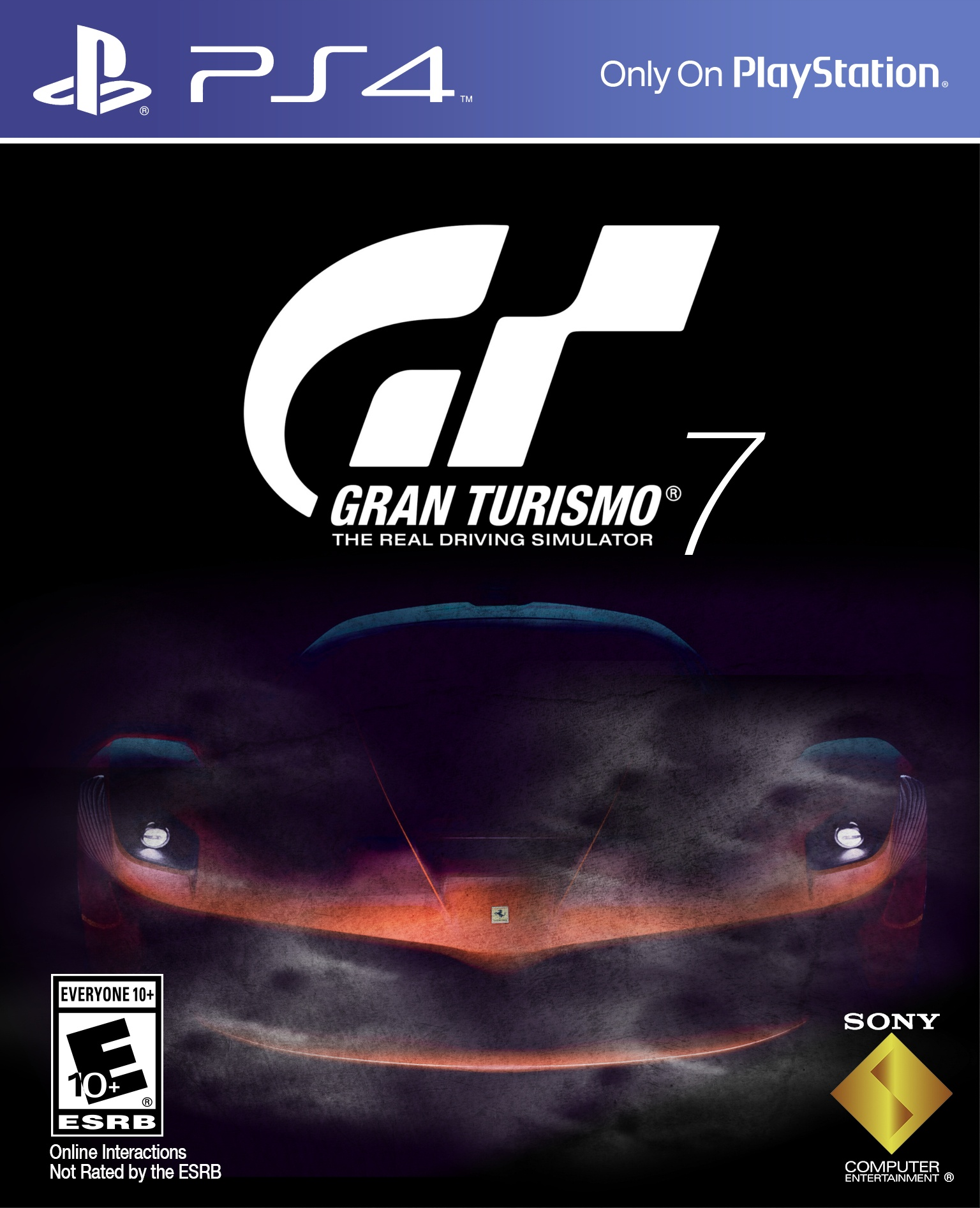 Gran Turismo 7 Cover on old car jaguar