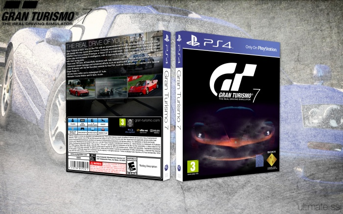 Gran Turismo 7 PlayStation 4 Box Art Cover By Ultimate SSJ