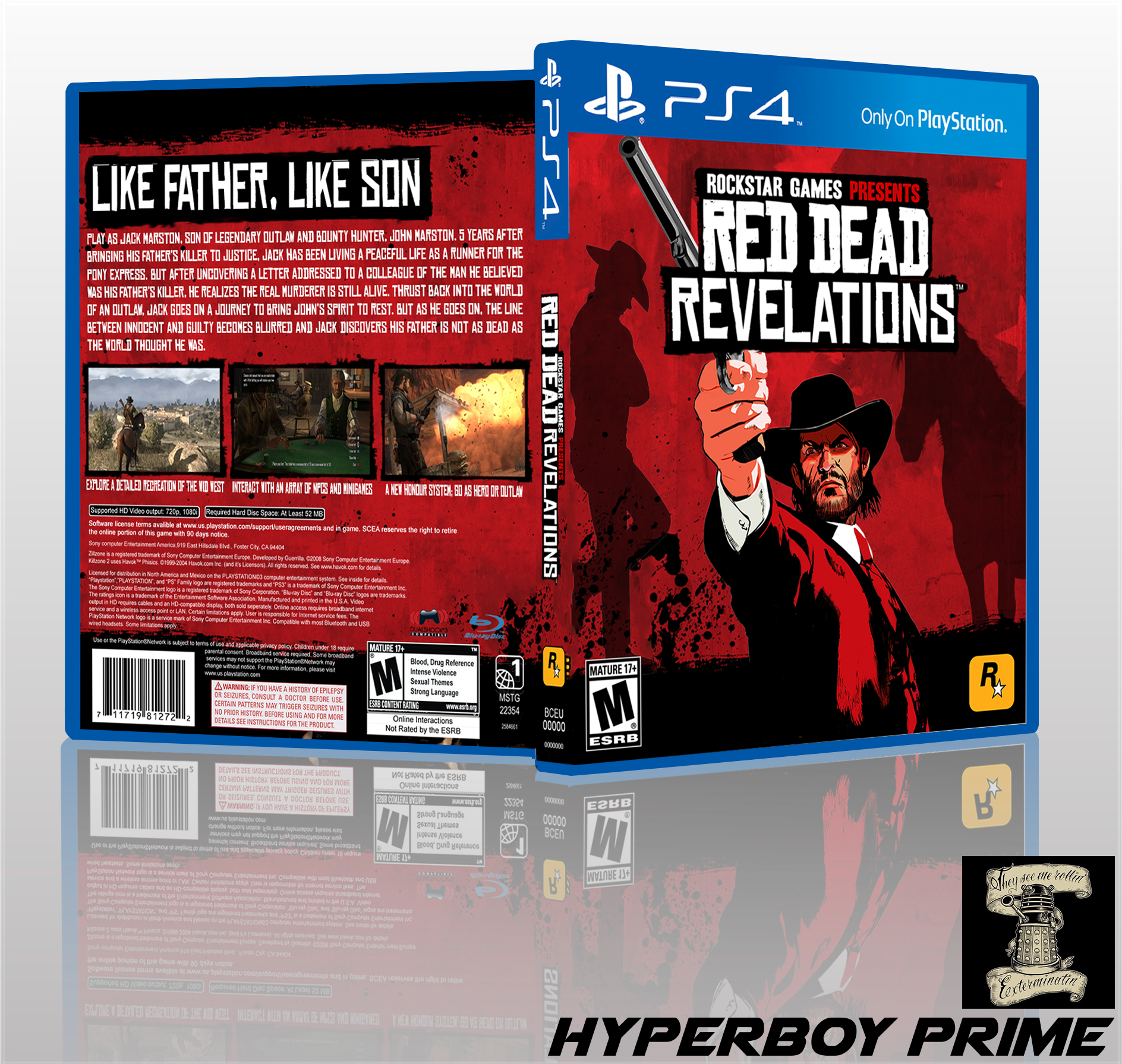 Red Dead Revelations box cover
