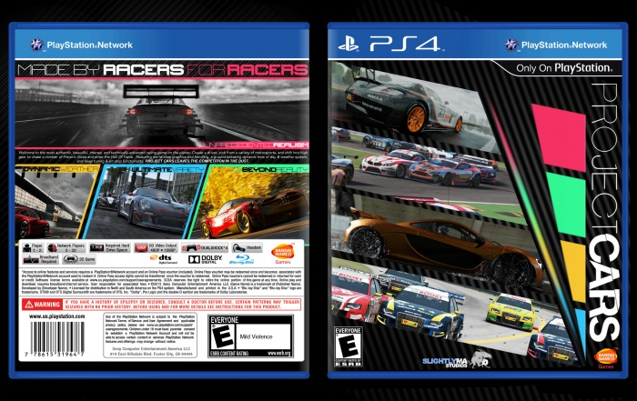 project cars playstation 4 box art cover by ultraviolet32x. Black Bedroom Furniture Sets. Home Design Ideas