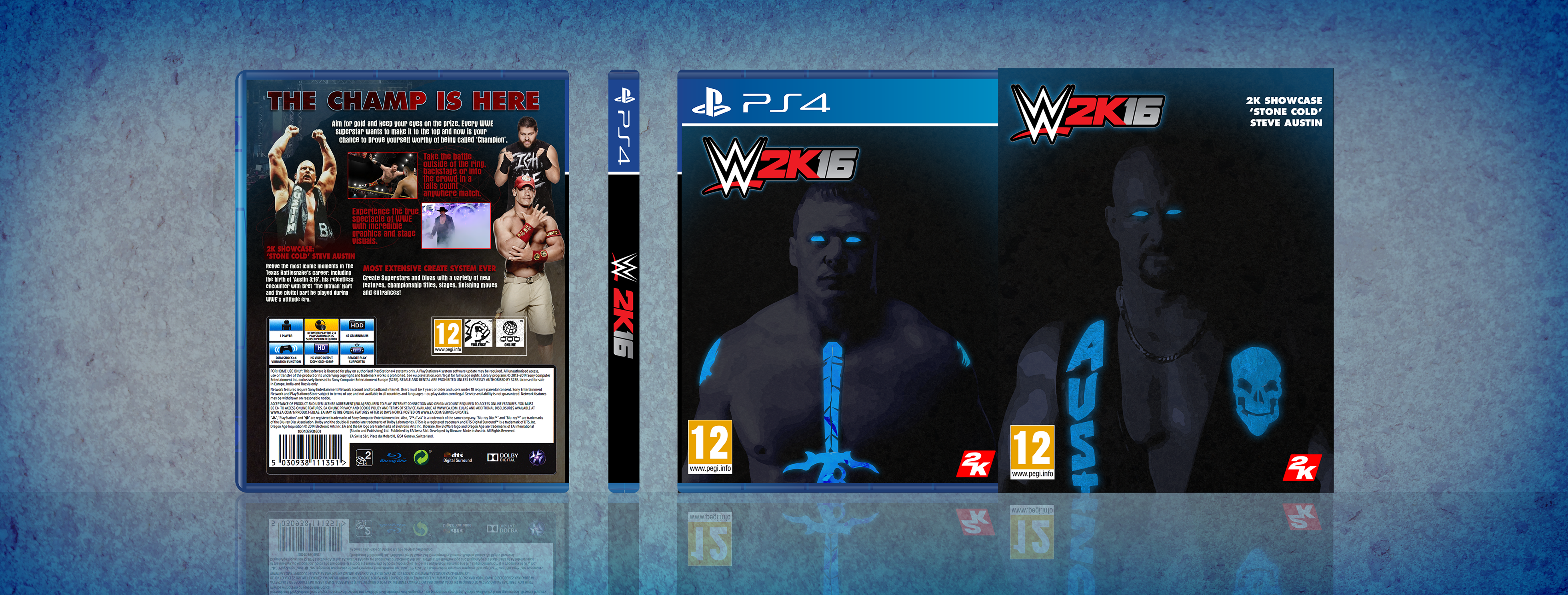 wwe 2k16 playstation 4 box art cover by legend chronicles2